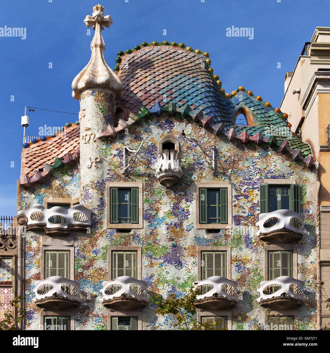 Casa Batllo a Barcellona, Spagna. Immagini Stock