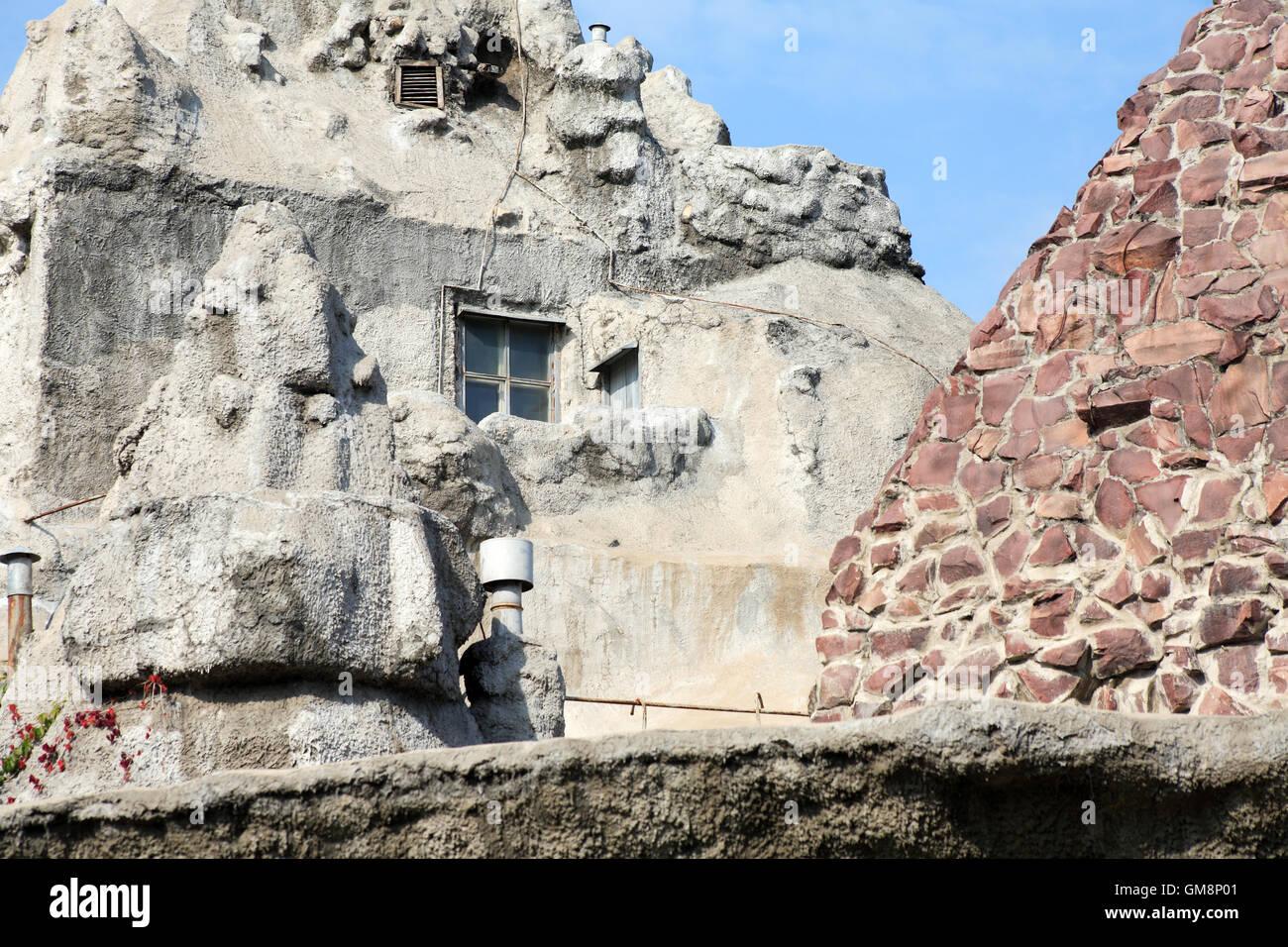 Casa in roccia Immagini Stock