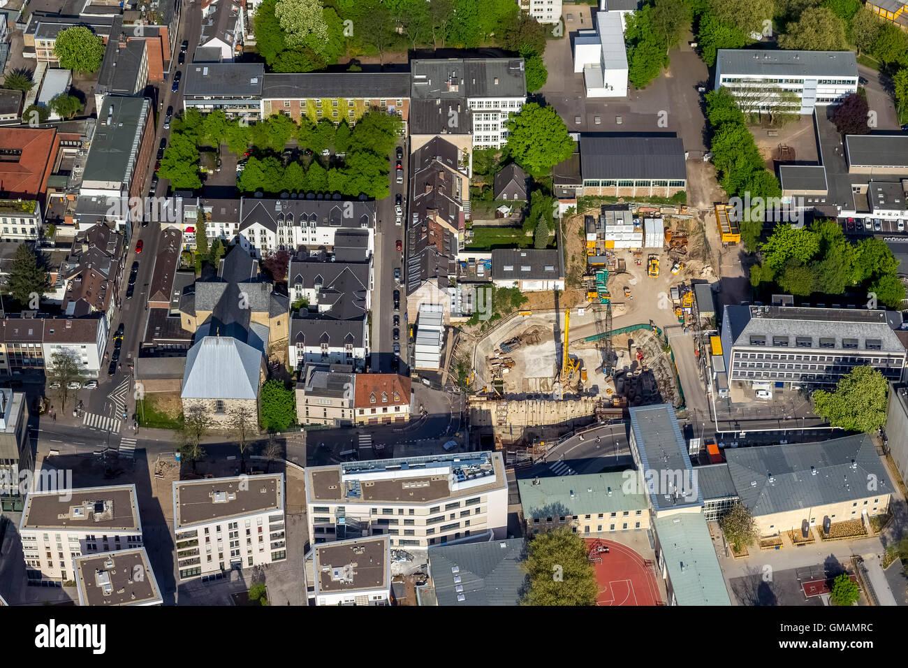 Vista aerea, sito in costruzione in corrispondenza della posizione dell'assistito inserito archivio della città Immagini Stock
