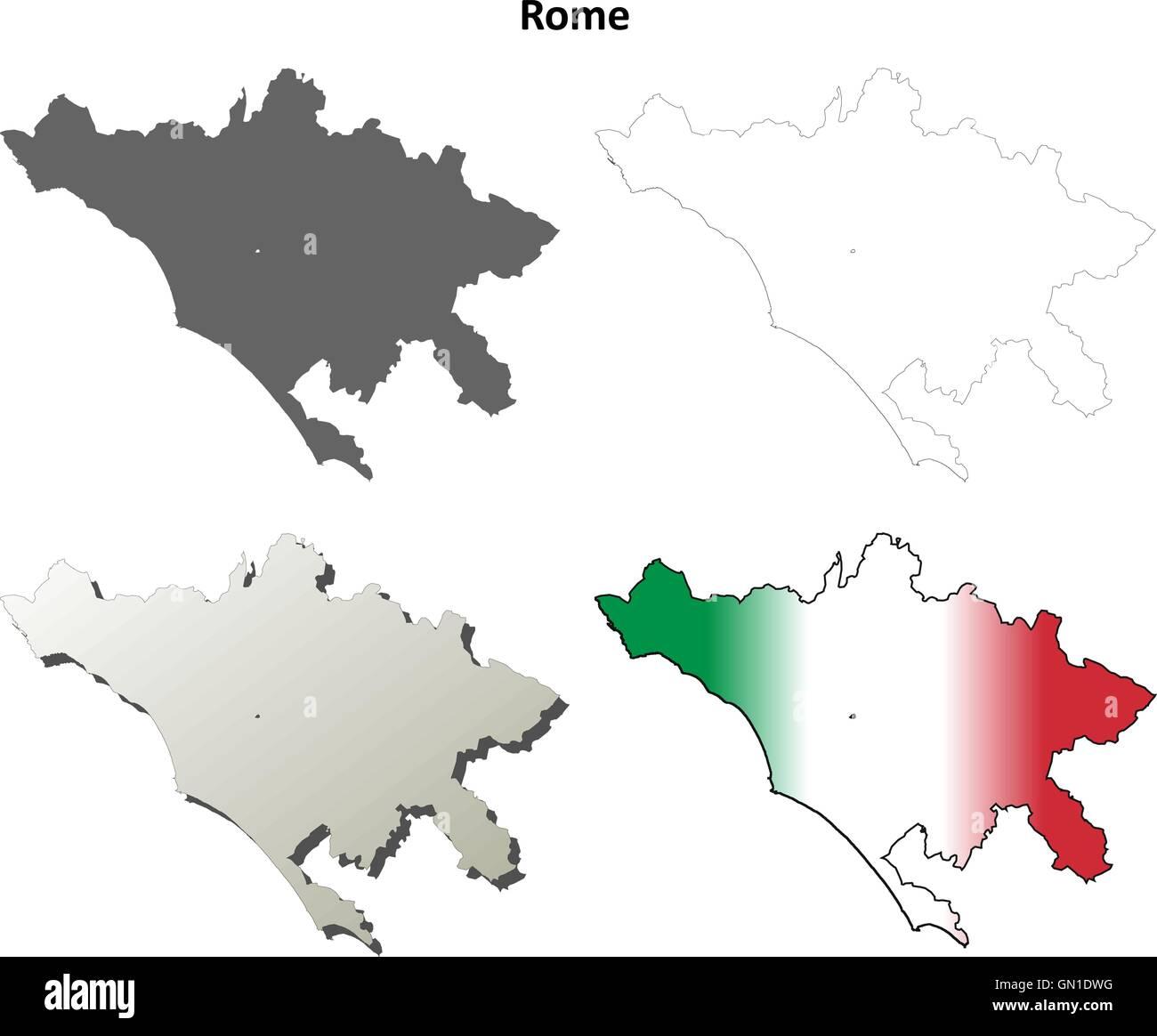 Cartina Italia Dwg.Lazio Map Vector Immagini E Fotos Stock Alamy