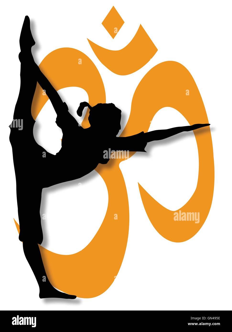 Lo Yoga pone Poster. Illustrazione Vettoriale