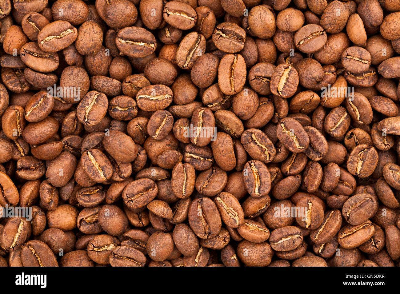 I chicchi di caffè texture Immagini Stock