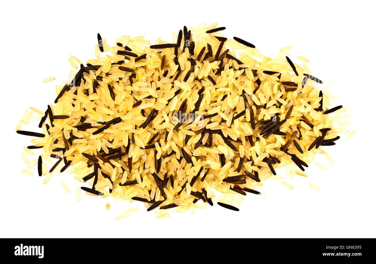 Giallo e nero miscela di riso Immagini Stock