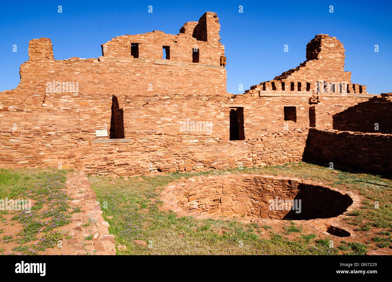 Abo rovine a Salinas Pueblo Missions National Monument Immagini Stock