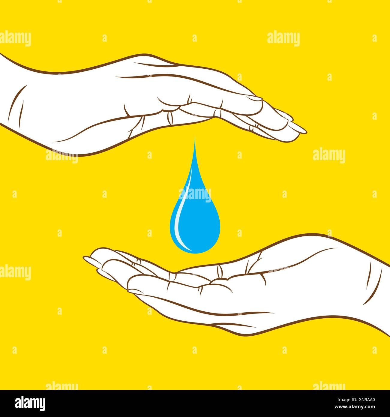 Creative risparmiare acqua concept design Immagini Stock