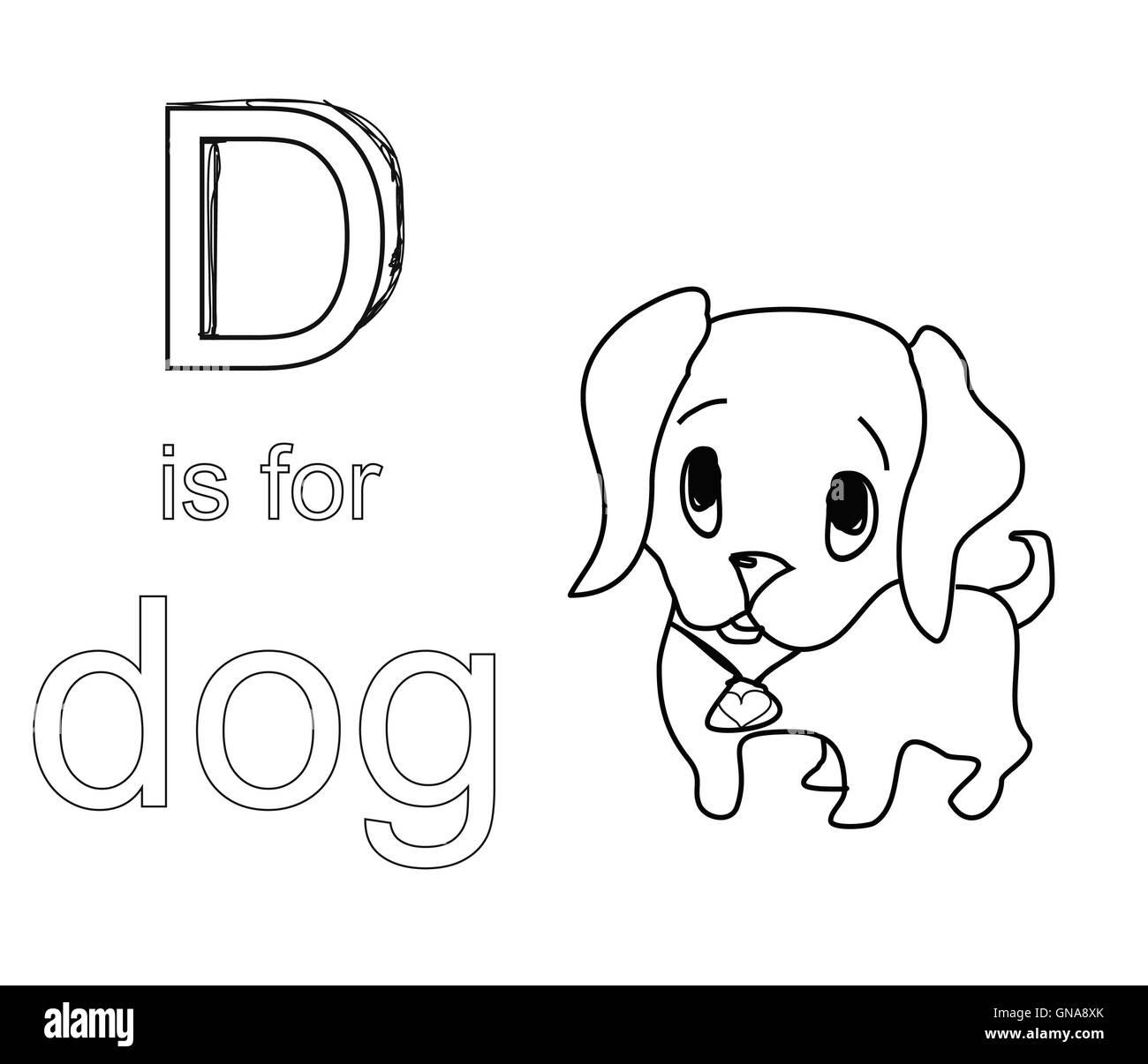 Alfabeto Da Colorare Per I Bambinid Foto Immagine Stock