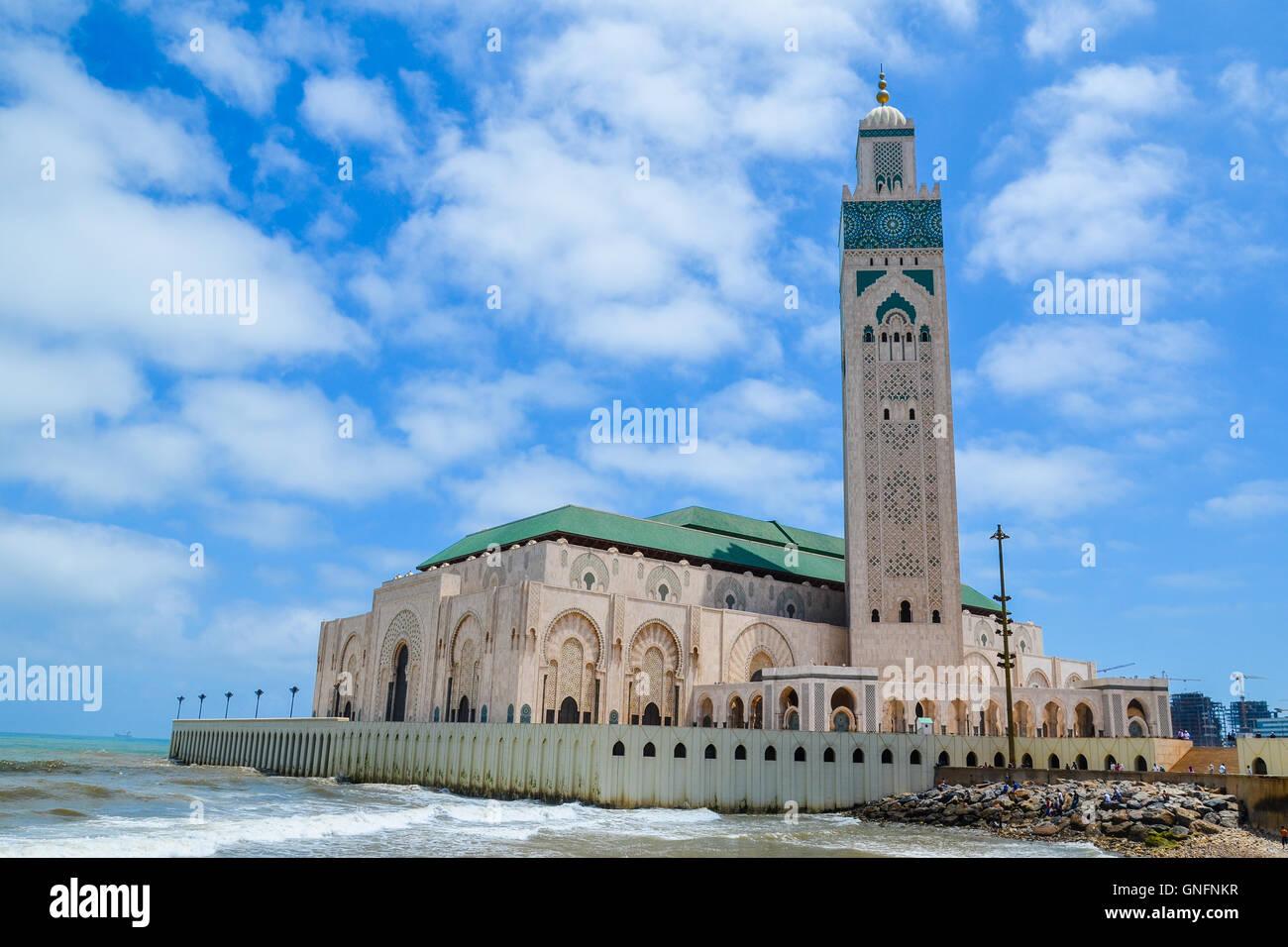La Moschea di Hassan II a Casablanca, Marocco Immagini Stock