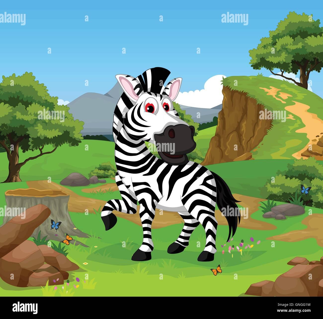 Innoglen leone cartone animato con il serpente auto e zebra t