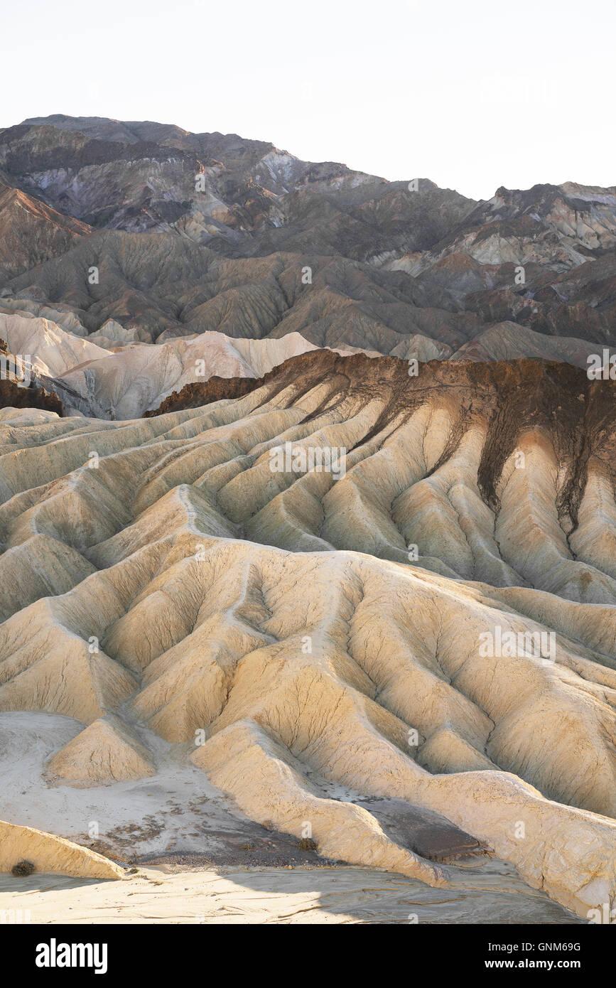Ripples nel deserto del Parco Nazionale della Valle della Morte Immagini Stock