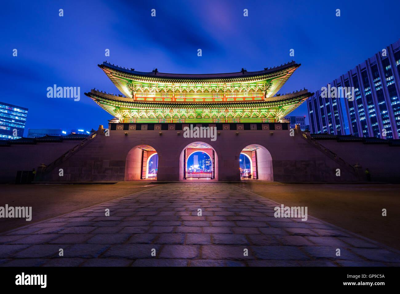 Il palazzo Gyeongbokgung a Seul, in Corea. Immagini Stock