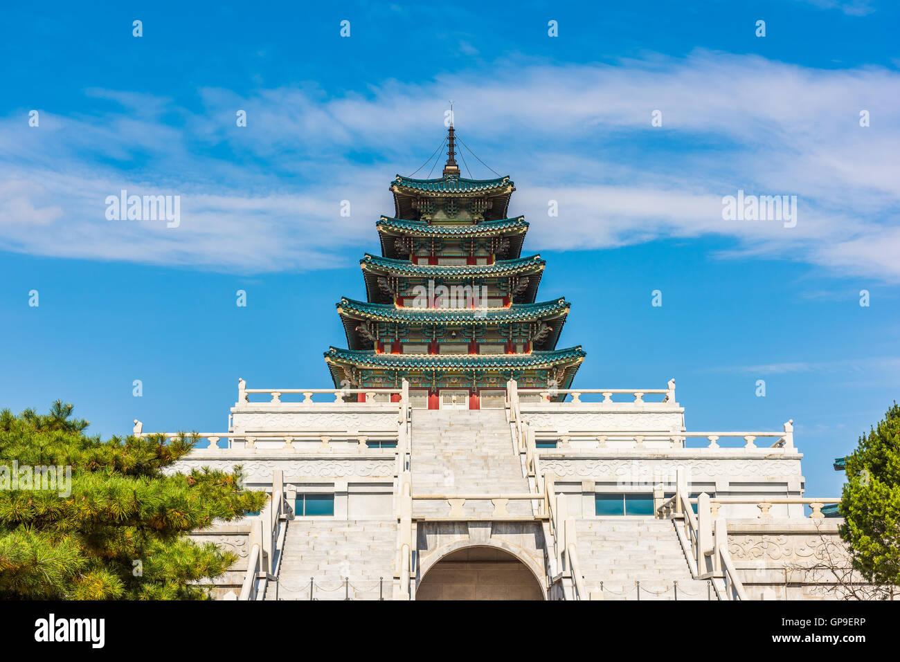 Il Palazzo Gyeongbokgung a Seoul, Corea. Immagini Stock