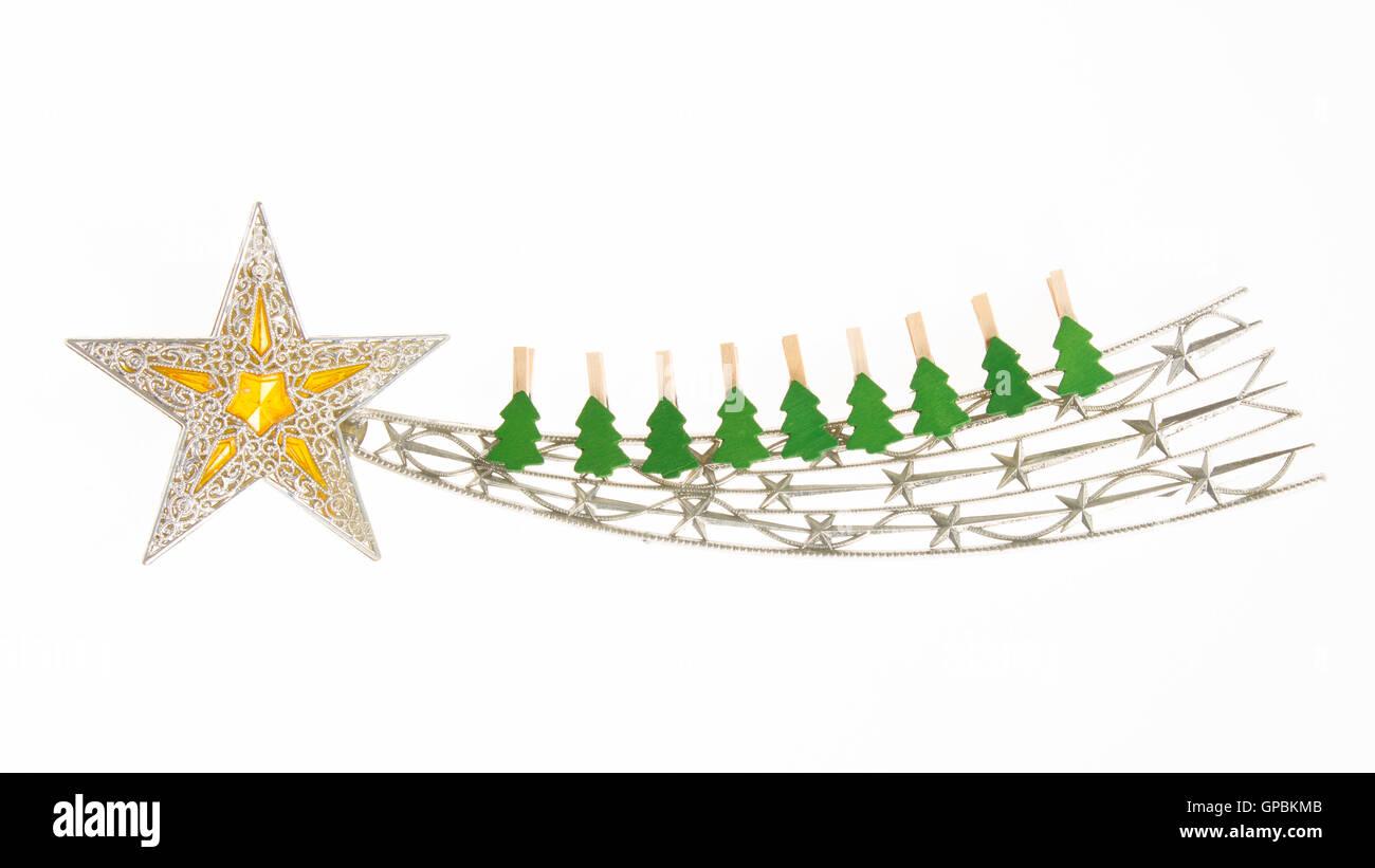 Stella Cadente Di Natale.Stella Cadente Decorazione Di Natale Con Piccole Spine Di