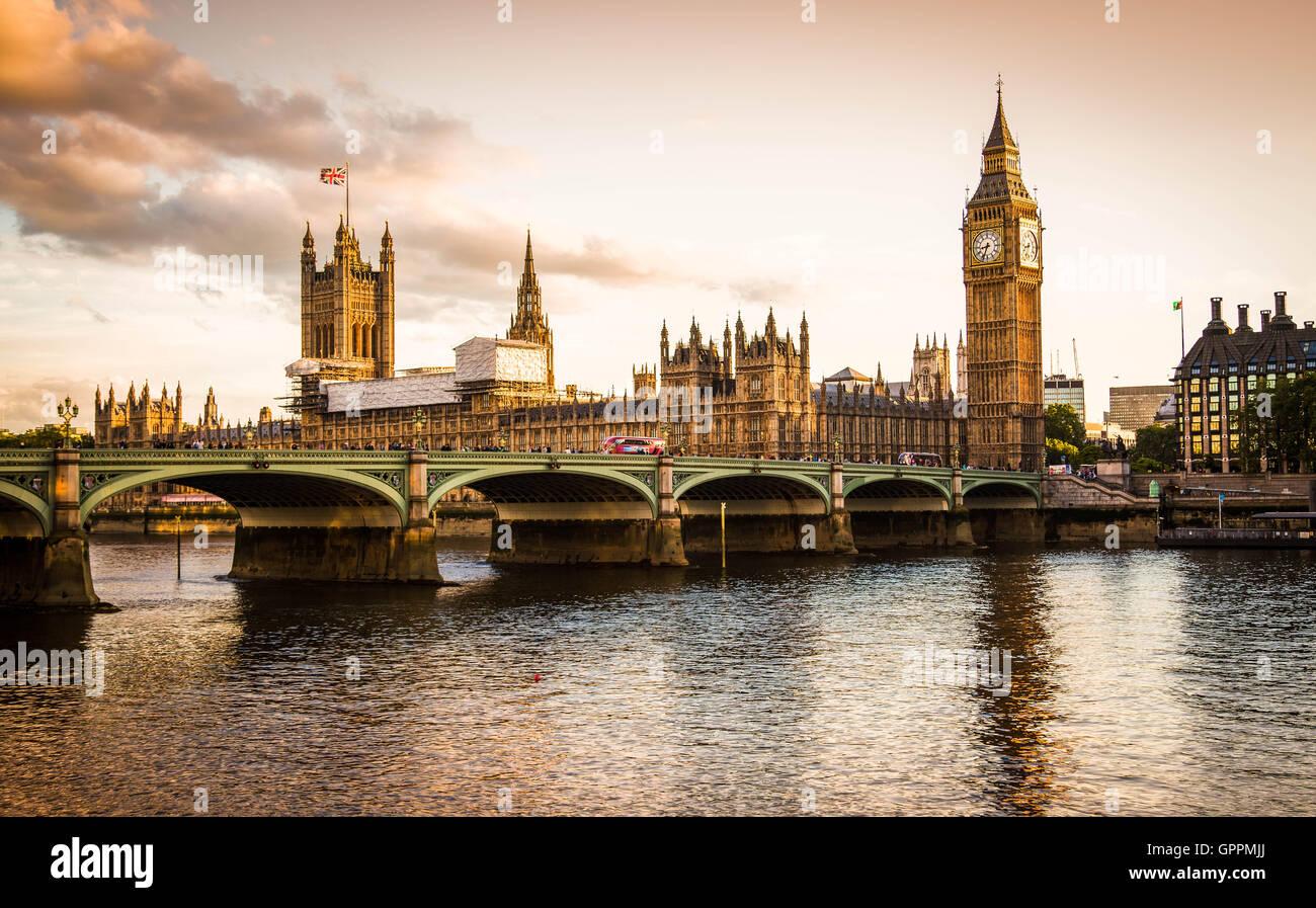Il Big Ben e il Parlamento Immagini Stock