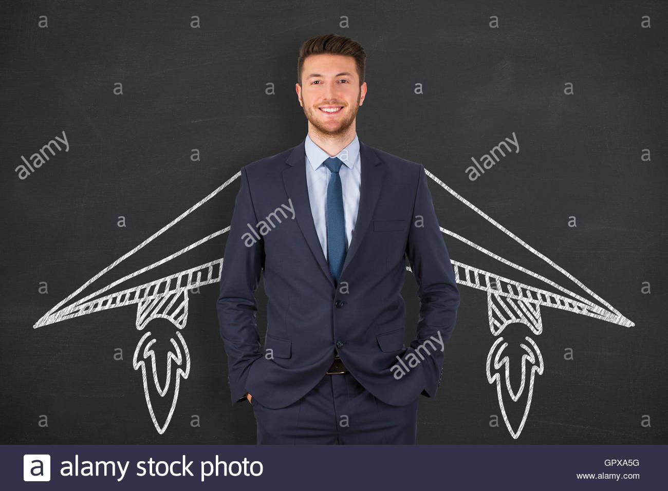 Persona di business il concetto di avvio Foto Stock