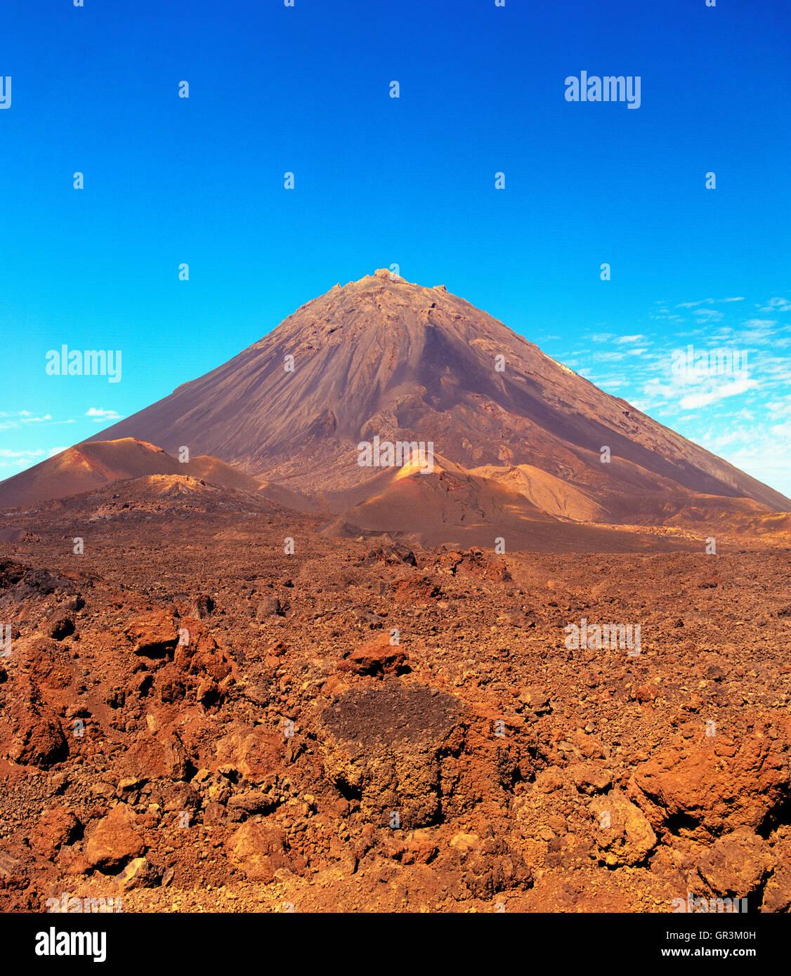 Pico de Fogo. Fogo, Isole di Capo Verde, Africa. Immagini Stock