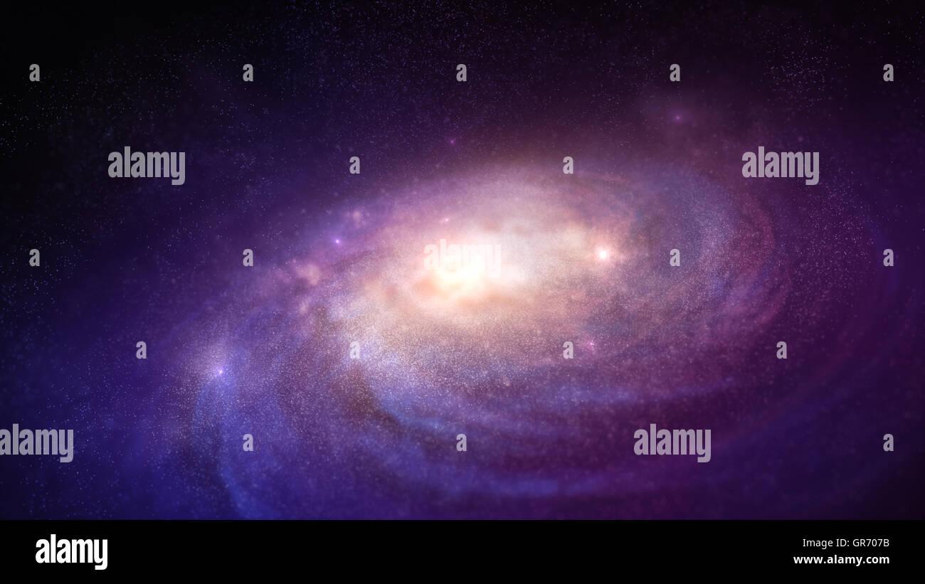 Galaxy nello spazio Immagini Stock
