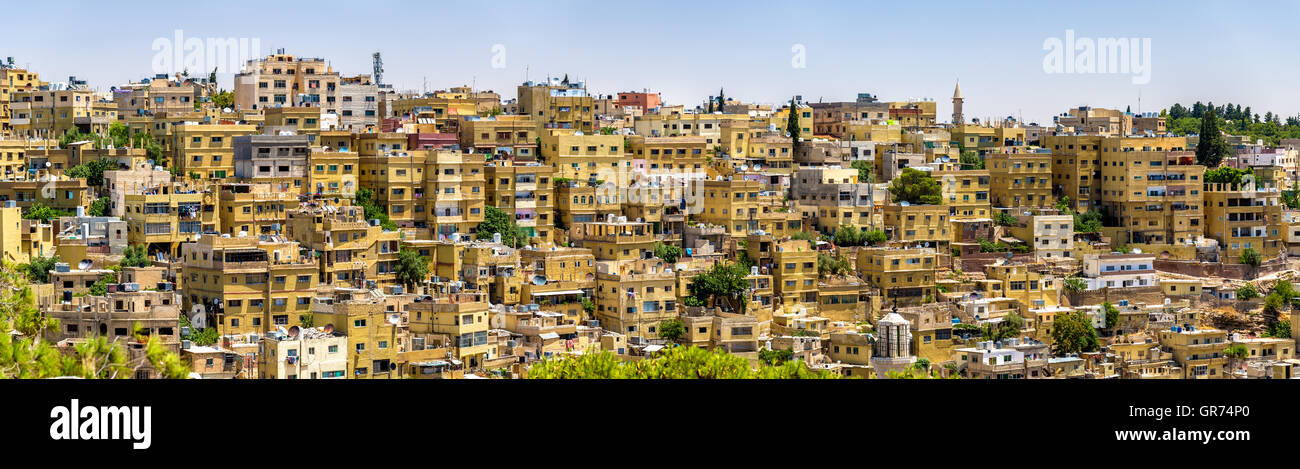 Panorama di Amman in Giordania Immagini Stock