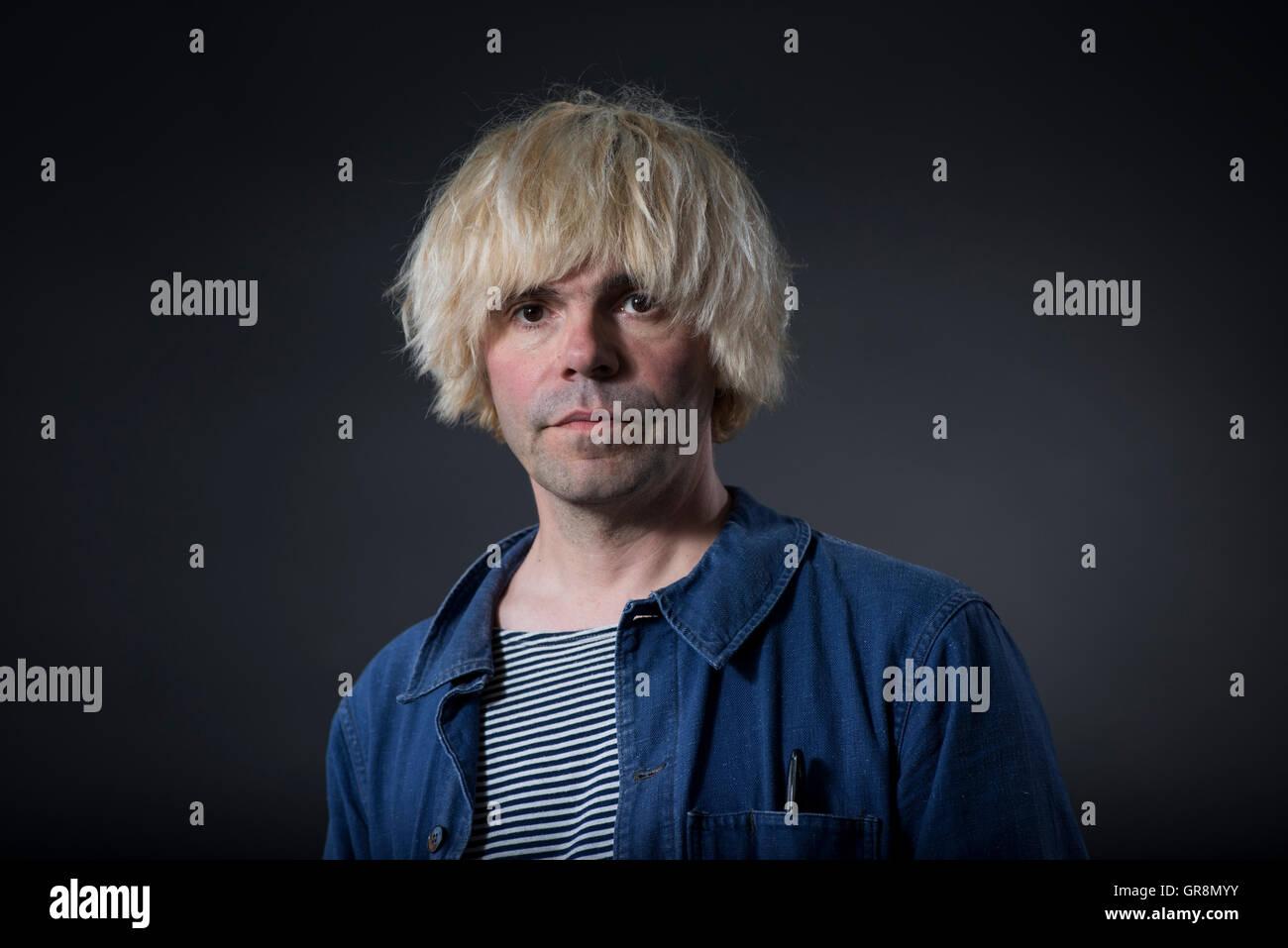 Inglese cantautore e etichetta discografica proprietario Tim Burgess. Foto Stock