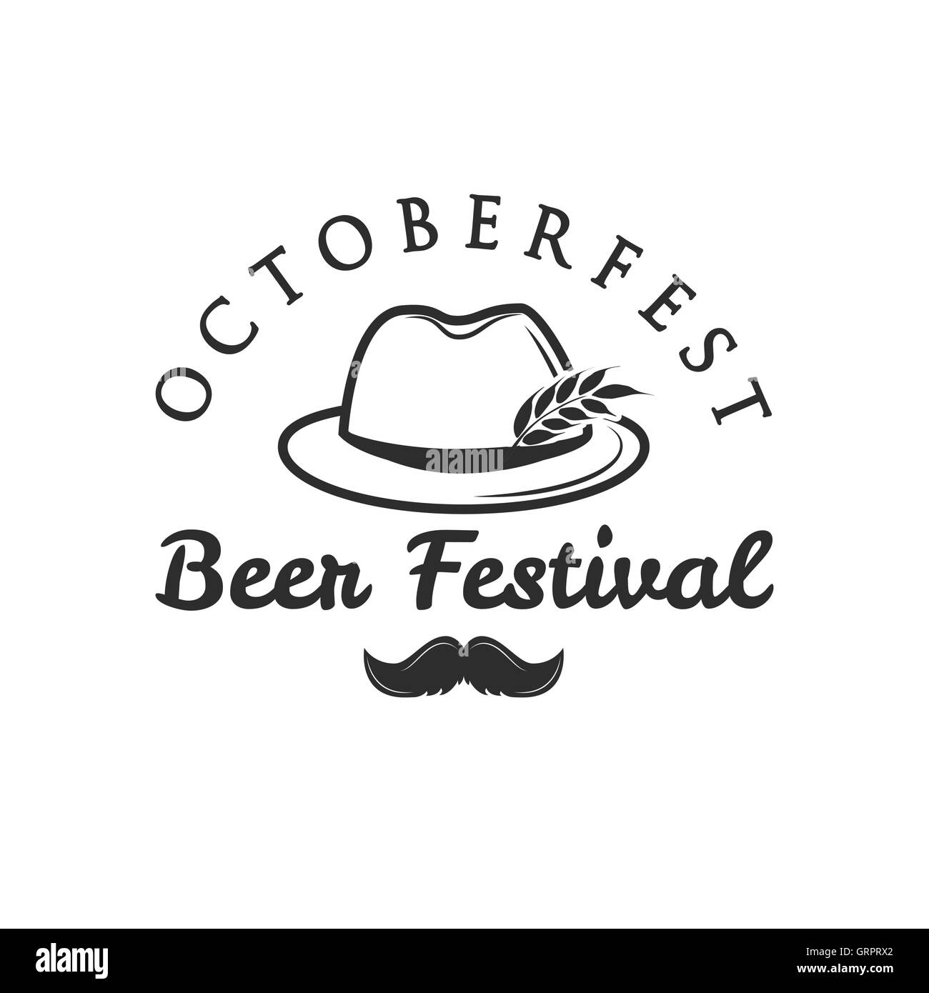 Birra Oktoberfest retro vintage il badge ca14b2300993