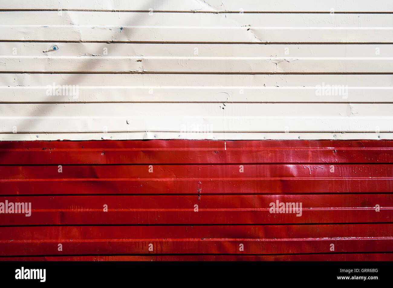 Pavimento Rosso E Bianco : Rosso e bianco texture di zinco pavimento in metallo a parete