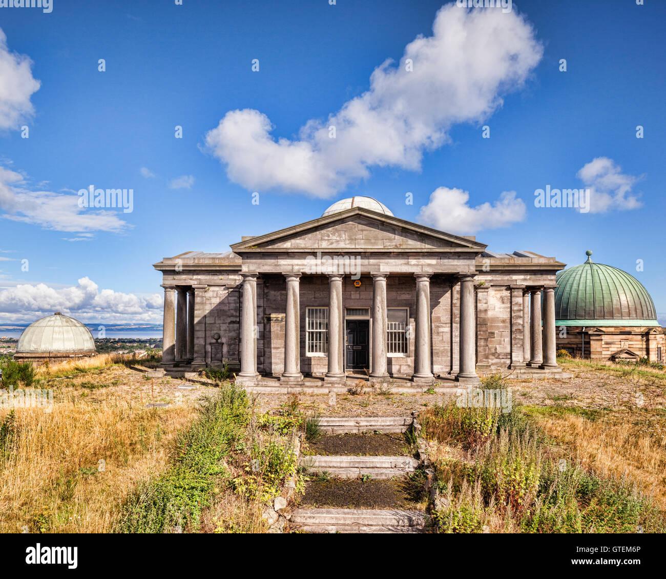 Il vecchio osservatorio, Calton Hill, Edimburgo, Scozia, Regno Unito Immagini Stock