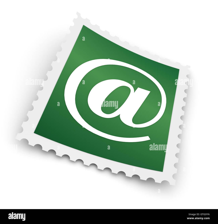 E-mail francobollo concetto 3d illustrazione Immagini Stock