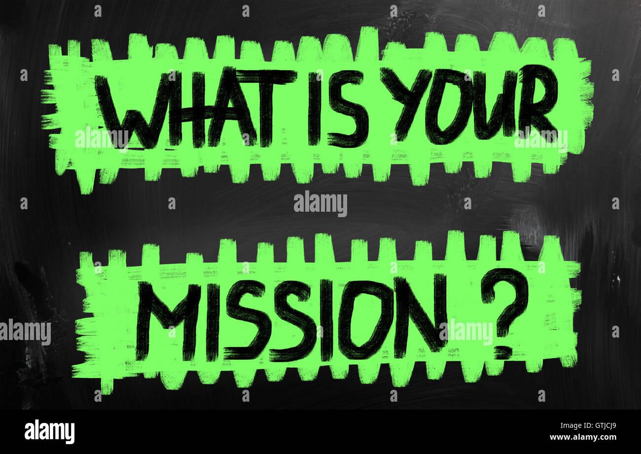Qual è la vostra missione? Immagini Stock