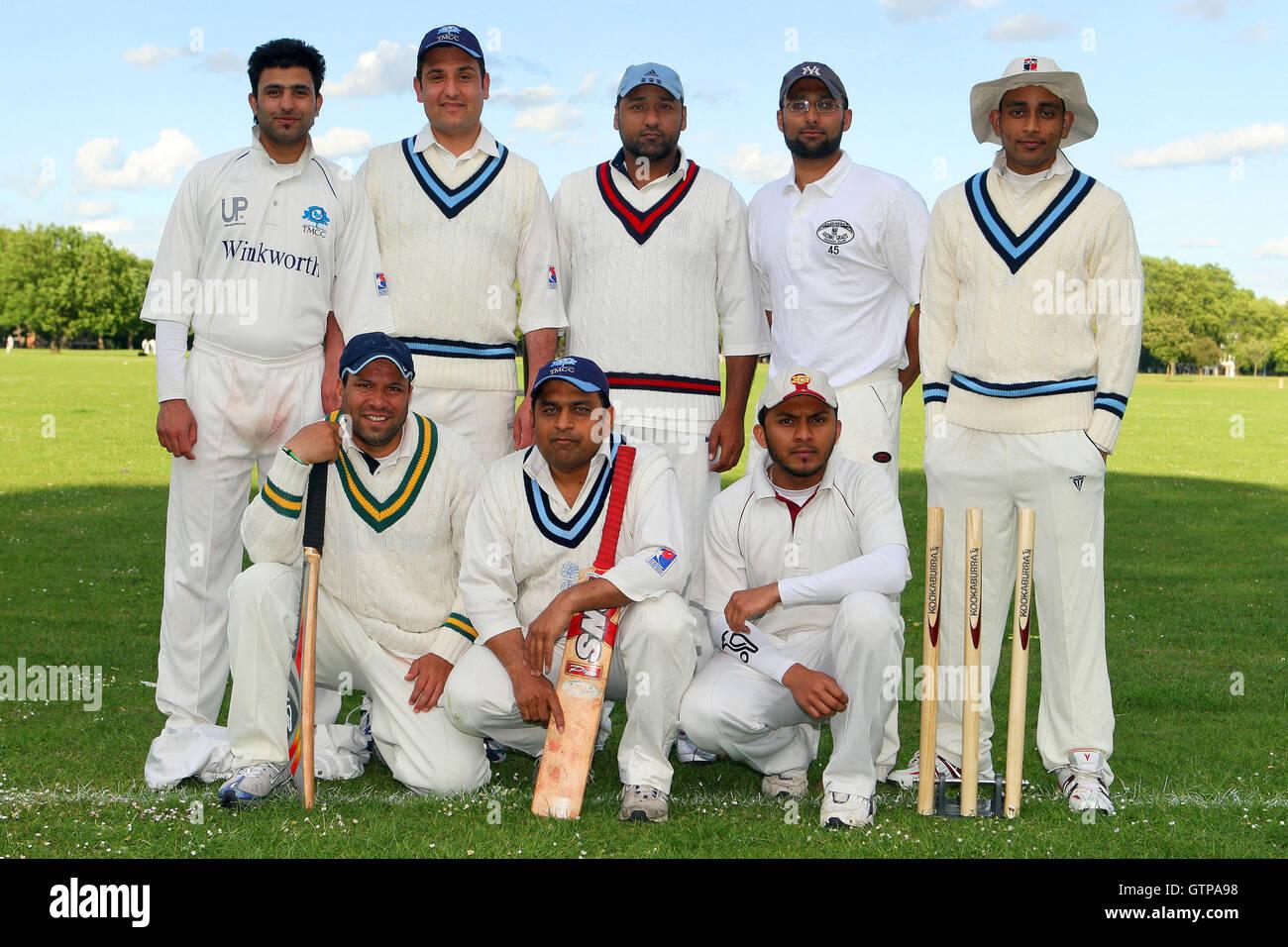 Sky CC - Victoria Park Comunità Cricket League - 26/05/09 Immagini Stock