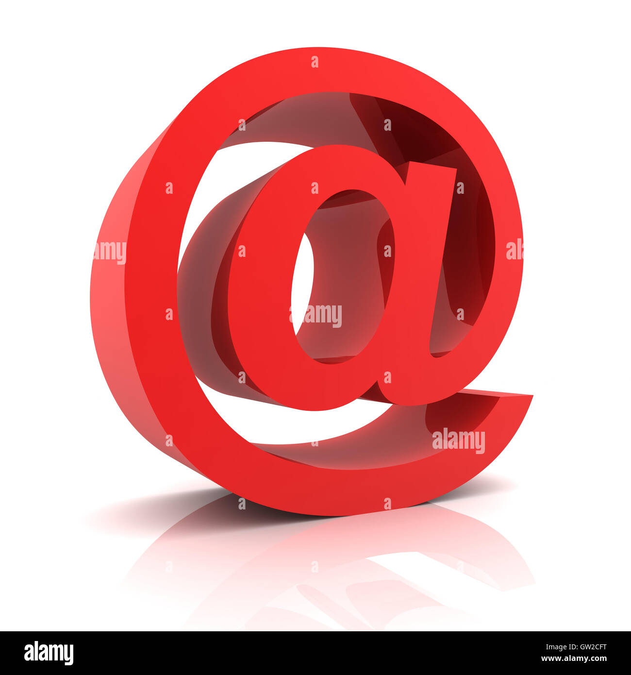 Posta elettronica il concetto di simbolo 3d illustrazione Immagini Stock