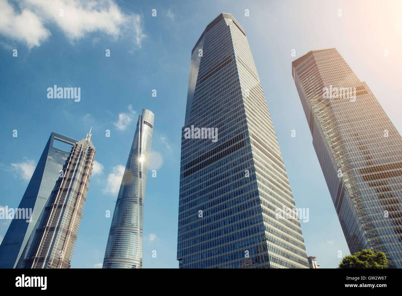 Il grattacielo di Shanghai in Lujiazui Shanghai il quartiere finanziario in Cina a Shanghai. Immagini Stock