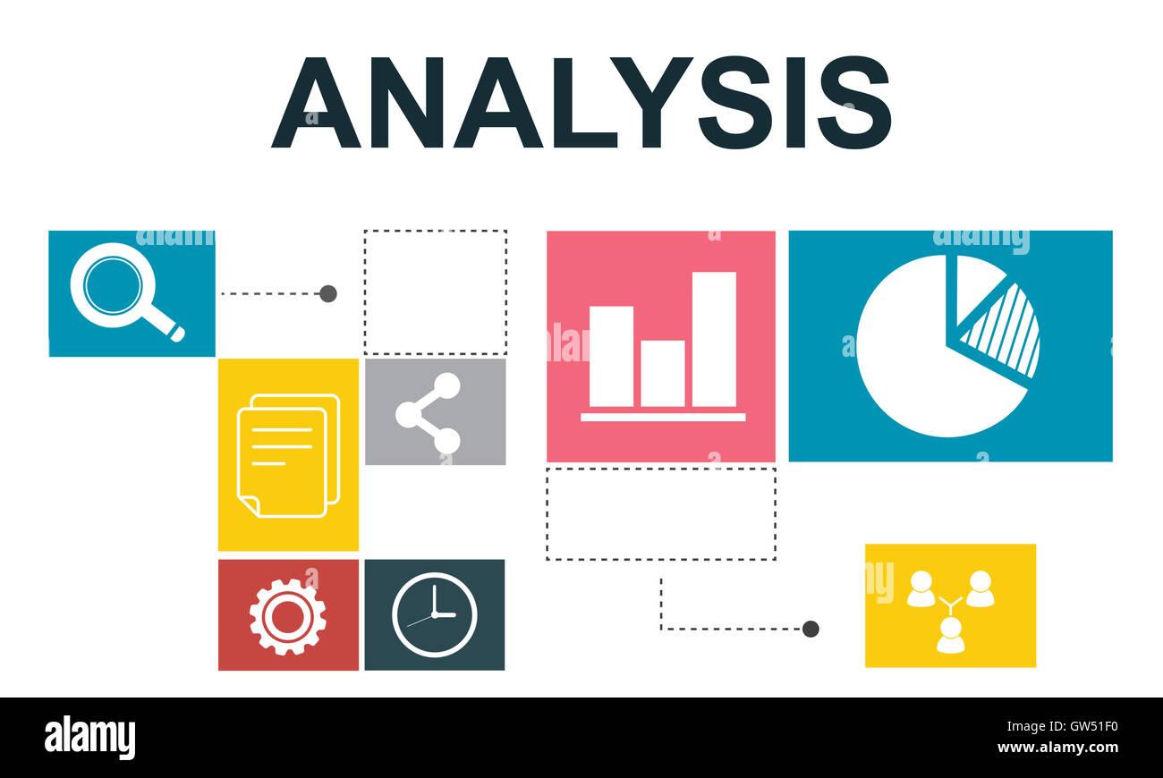 Analisi dei dati di informazioni analitiche di concetto di report Immagini Stock