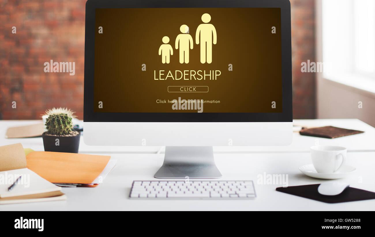 Leadership generazioni della famiglia il concetto di relazione Immagini Stock