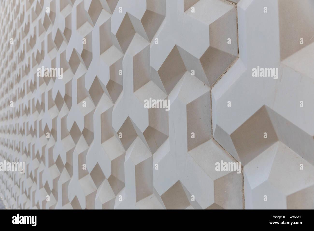 La texture della parete di forme geometriche Immagini Stock