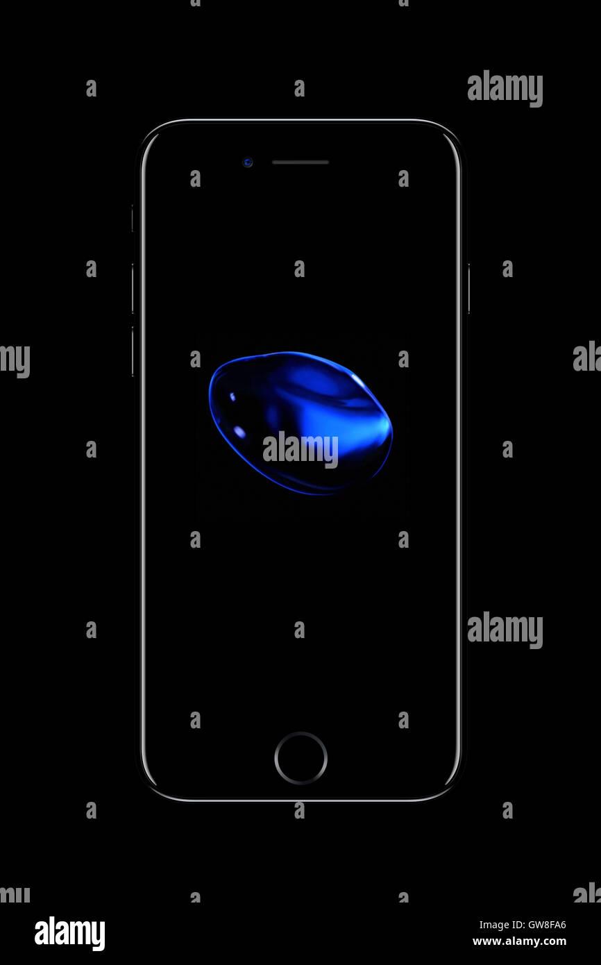 Smart phone iphone 7, generati digitalmente da opere d'arte. Immagini Stock