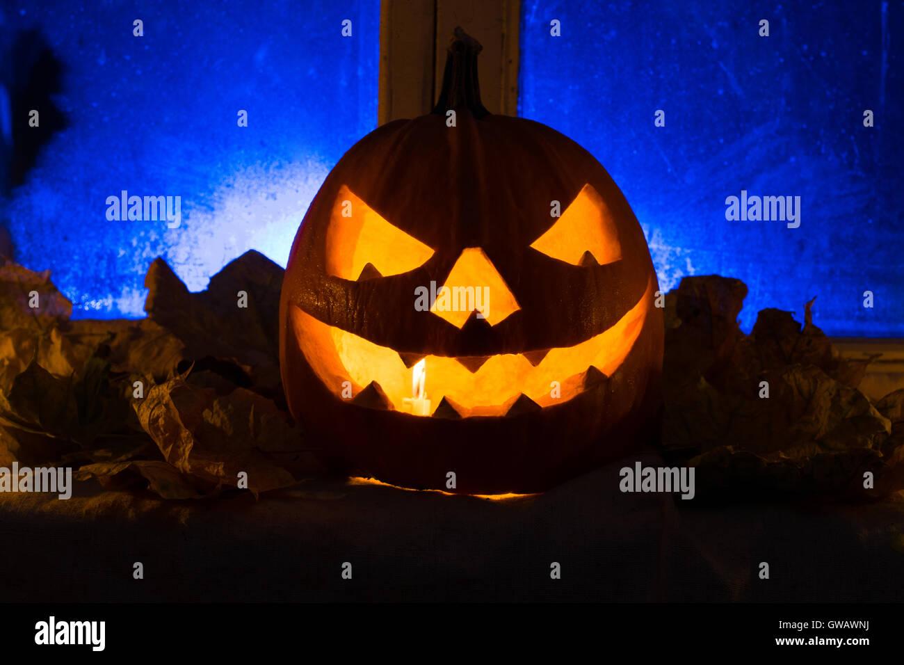 Illuminazione Halloween : Foto di zucca per una vacanza halloween molto arrabbiato zucca