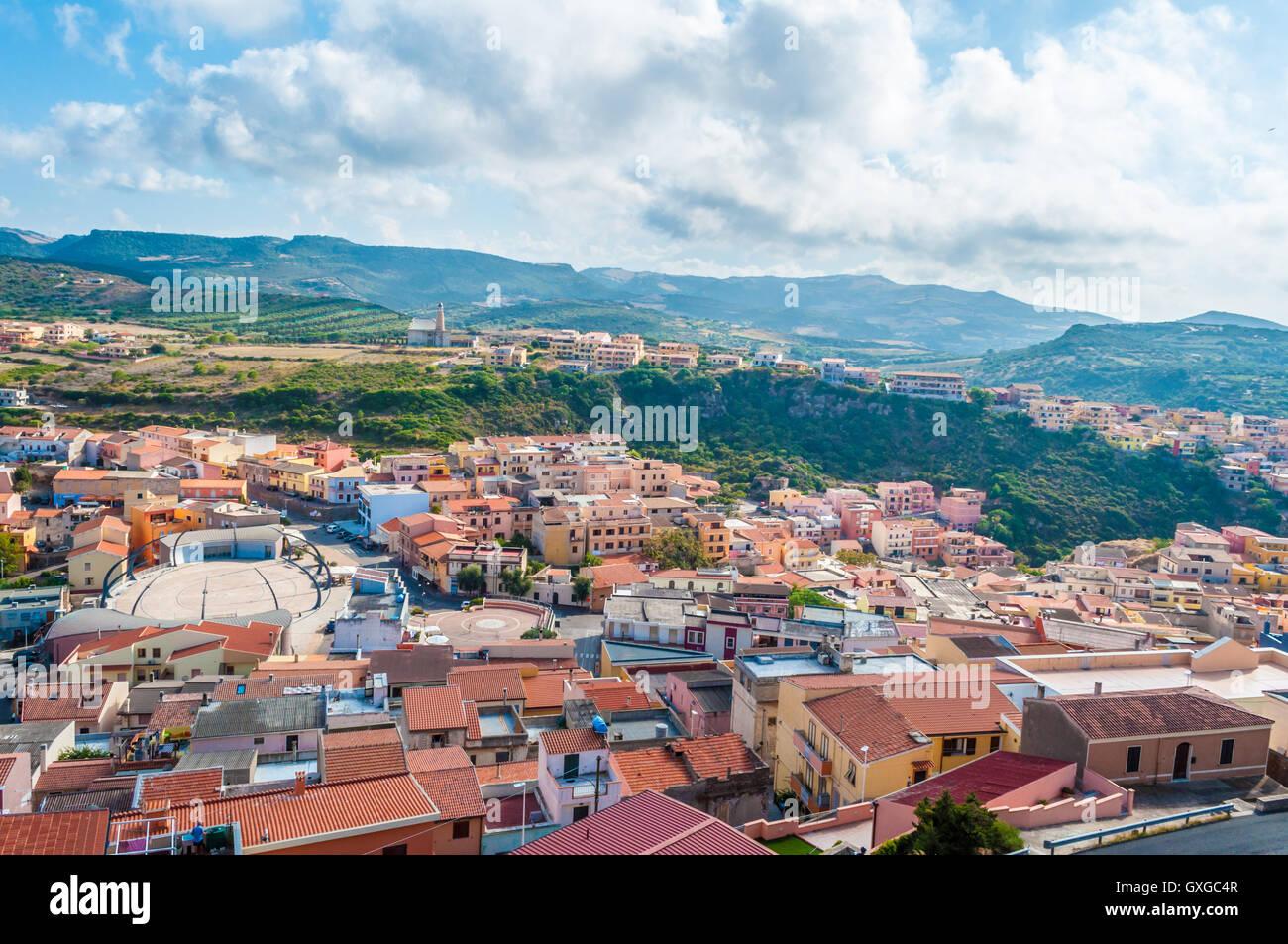 Vista da castelsardo città vecchia - Sardegna - Italia Immagini Stock
