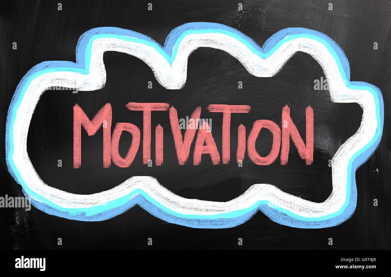 Concetto di motivazione Immagini Stock