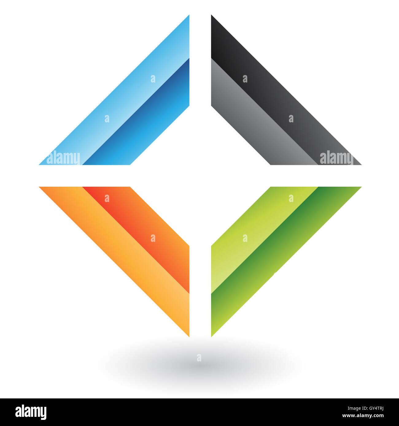 Logo geometrico icona e elemento di design Foto Stock