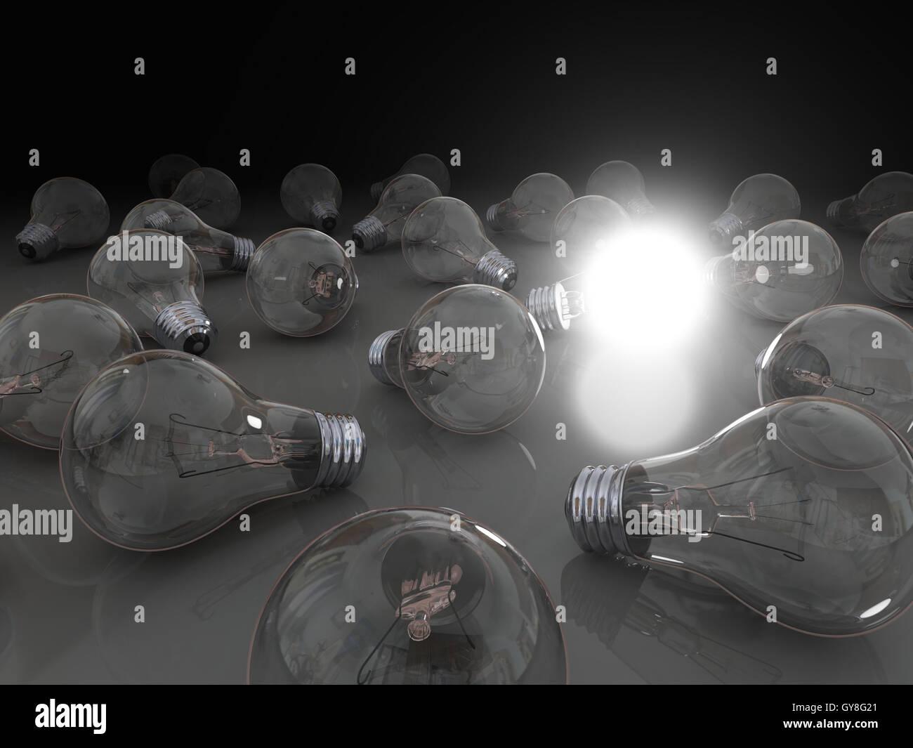 Idea brillante Immagini Stock