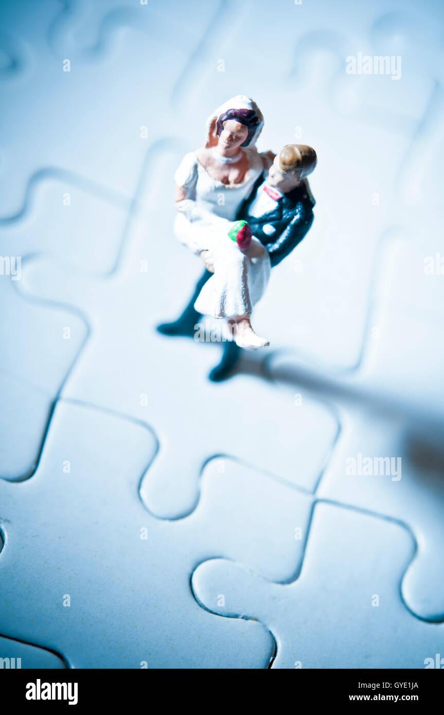 Il matrimonio dei problemi e delle sfide concept Immagini Stock