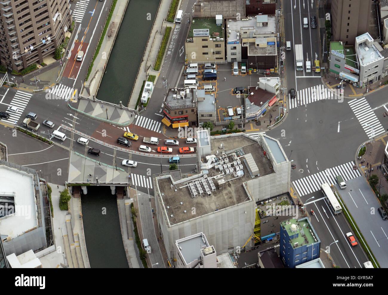 Vista aerea di urbano di Tokyo. Immagini Stock