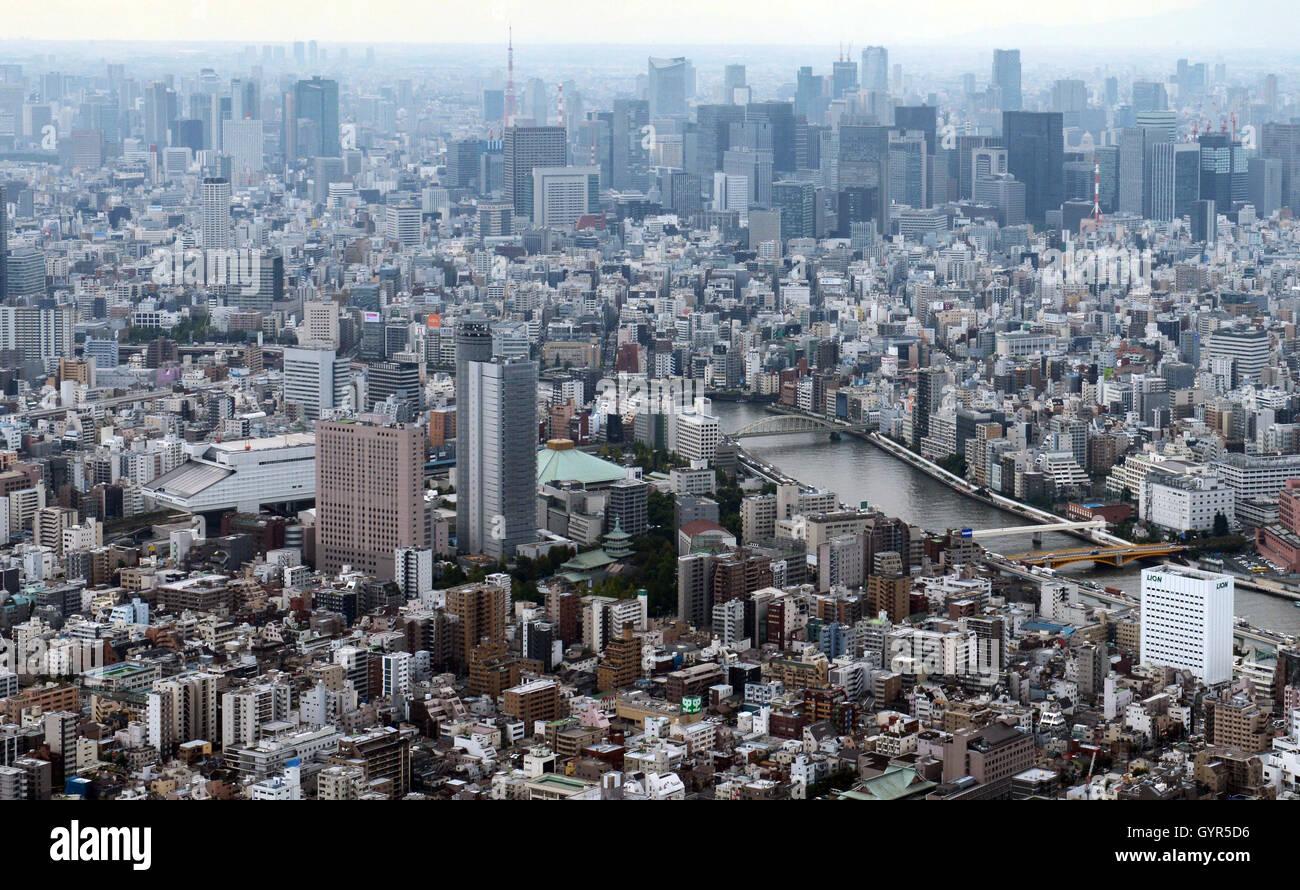 Vedute di Tokyo dalla Skytree. Immagini Stock
