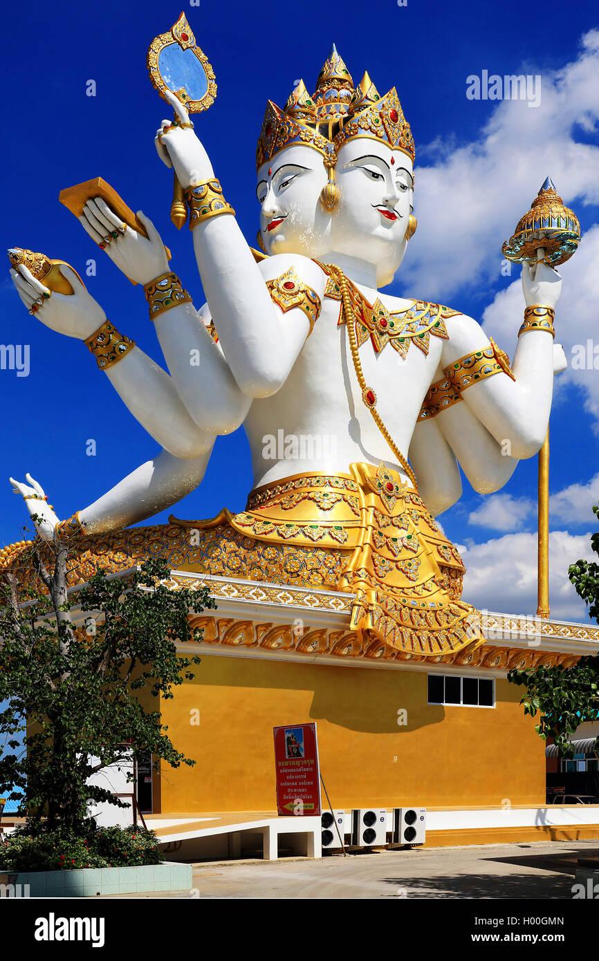 Der grosse Brahma, Hindu-Gott, Thailandia, Chachoengsao | Brahma, dio creatore nella Trimurti dell'Induismo, Immagini Stock