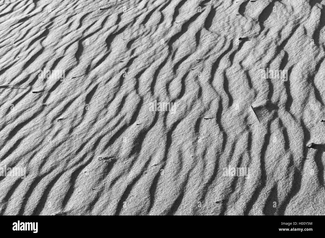 Spiaggia di sabbia texture di superficie. gli sfondi naturali e texture Immagini Stock