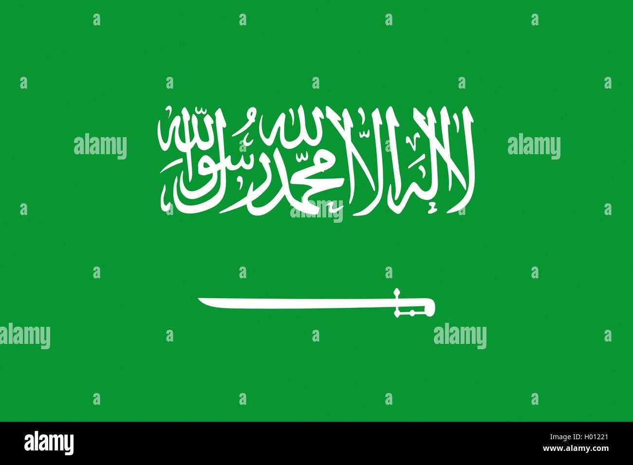 Flagge Saudi-Arabiens, Saudi-Arabien | Bandiera della Arabia Saudita Arabia Saudita | BLWS419752.jpg [ (c) blickwinkel/McPHOTO/K. Immagini Stock