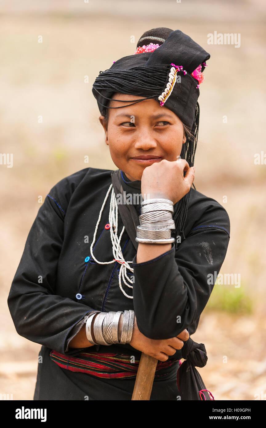 Una donna da una minoranza etnica chiamato Enn nello Stato di Shan, Myanmar (Birmania), Asia Immagini Stock