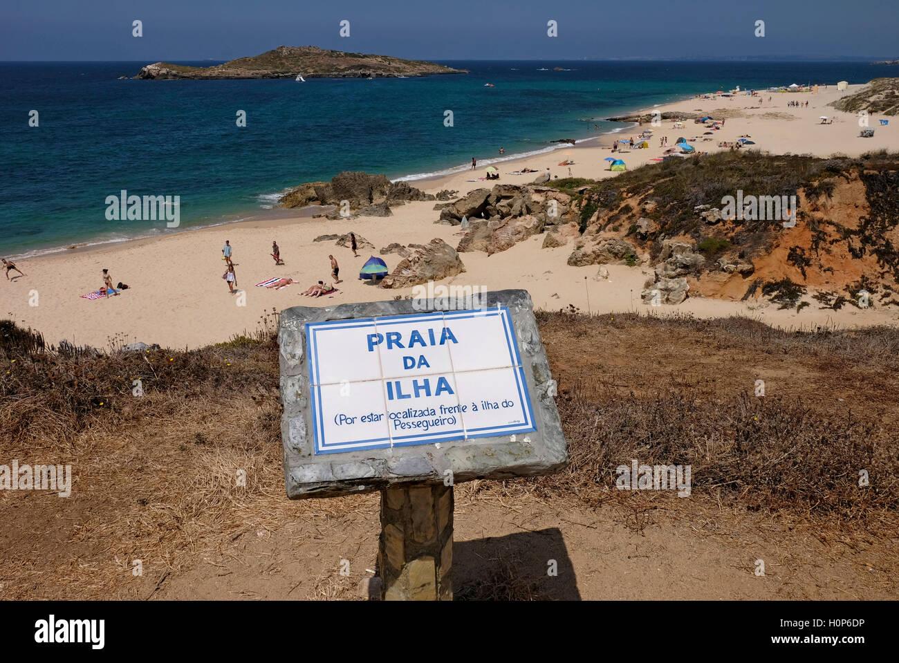 Ilha do Pessegueiro in Porto Covo, Costa Vicentina, Alentejo, Portogallo Immagini Stock