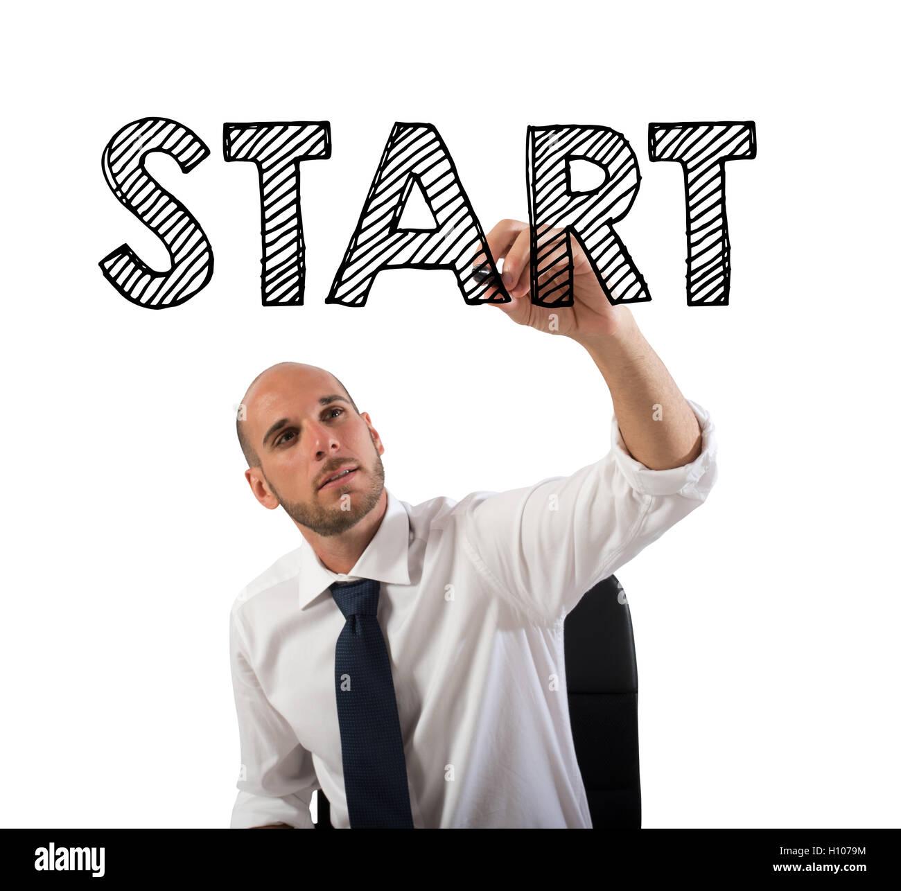 Avviare un business di successo in carriera Immagini Stock