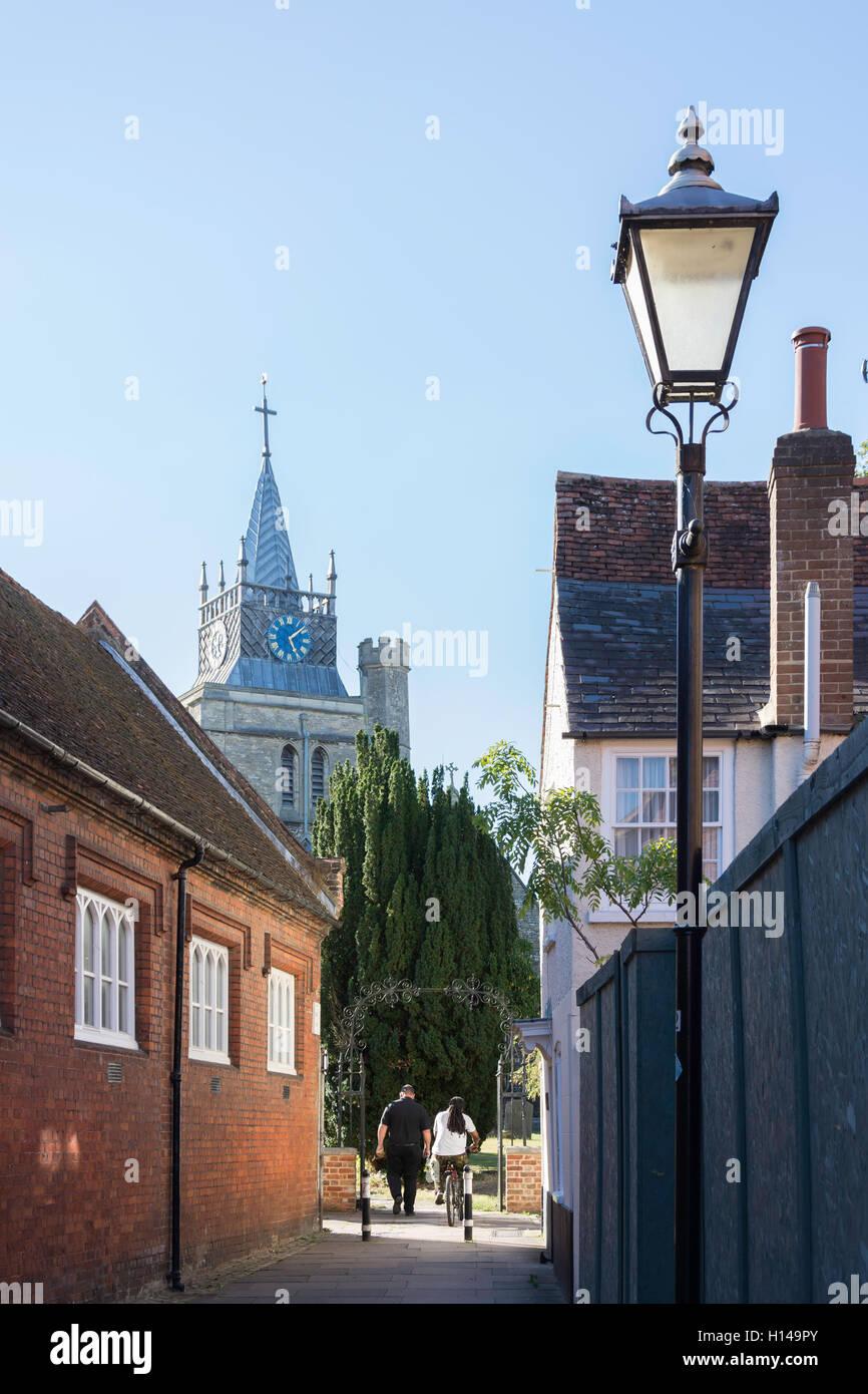 Santa Maria Vergine Chiesa da Pebble Lane, Aylesbury, Buckinghamshire, Inghilterra, Regno Unito Immagini Stock