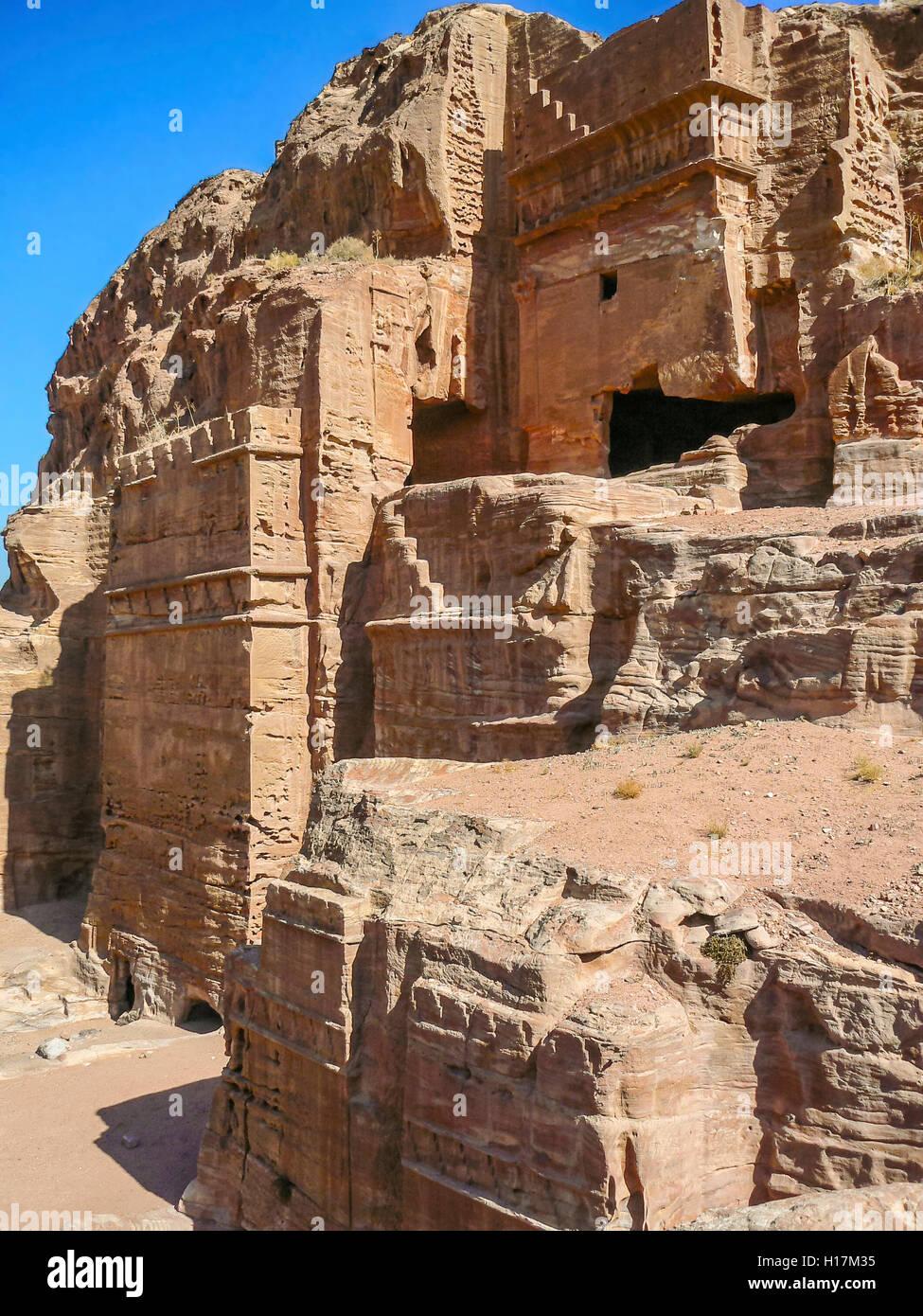 Petra in Giordania Immagini Stock